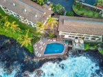 Aerial of the Poipu Shores Pool