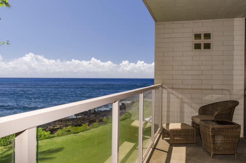 Kuhio Shores 201 | Kauai Condo Rental | Oceanfront