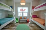 Bright and colorful bunk room