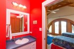 Kids room boasts two twin beds and beautiful views over Lake Carillon