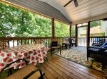 Autumn Holiday lake side screened porch