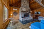 Mountain Lake Lodge wood burning fireplace