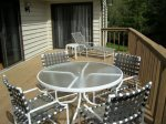 Winters Deck with plenty of seating
