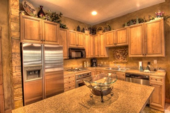 Gourmet Kitchen With Great Lighting