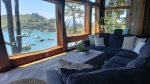 Great Room Custom Design Windows- Trinidad Bay Views
