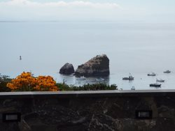Harbor Sea Stacks and Boats view from Master Bedroom