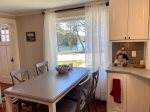 Eat in kitchen seating for four people - with westerly water views