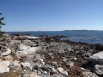 A quick walk provides a rocky shoreline