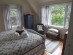 Here`s another view of the master bedroom and the bay window that overlooks our large sweeping lawn..right up to the water`s edge