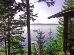 We`ve named our home he LINEKIN LOG CABIN, as it is a 4 bedroom one bathroom real modern day log cabin built into the mountain side. From here the views of Linekin Bay are incredible.