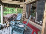 Sleeping loft also offers two twin beds
