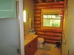 Deer are a common sight in the field and by the cabin as evidenced by this pretty doe