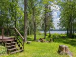 There is easy access to the lake and private dock with guest canoe
