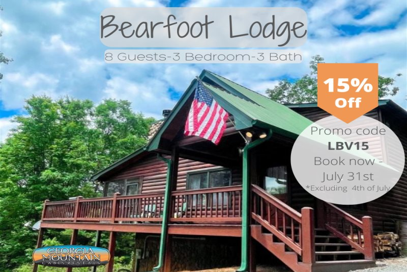 Lazzzy Bear Valley Cabin Georgia Mountain Cabin Rentals
