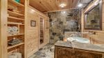 Basement Bathroom Features a Sauna
