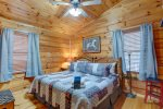 Master Bathroom Features a Jetted Tub
