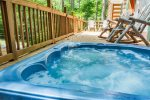 Hot Tub Located on Front Deck
