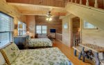 Loft Area Features Entertainment Area, and Two Twin Beds