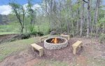 Firepit Located Near The Creek