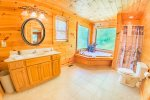 Upper Level Master Bathroom Features a Jetted Tub