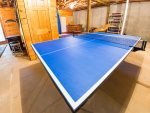 Ping Pong Table in Basement Game Area