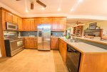 Fully Equipped Kitchen Features Stainless Steel Appliances
