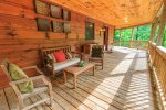Covered Back Deck Features Seating