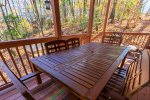 Outdoor Dining Area on Covered Deck
