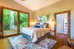 Master Suite Features a King Bed, Flat Screen TV and Double Sliding Glass Doors