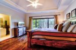 Main Level Master Suite 1 Features King Bed, 40 4K Smart TV