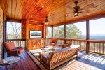 Screened Deck features Seating for 8 and 55 4K HD Smart TV
