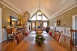 Dining Area Features Great Mountain Views and Seating for 8