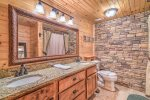 Basement Level Bathroom