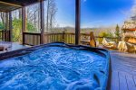 Hot Tub Located off Basement Level