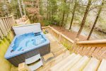 Enjoy a Relaxing Evening in the Hot Tub While Overlooking Fighting Town Creek