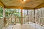 Private Covered Deck off Master Bedroom