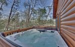 Large Hot tub Located on Main Level Deck