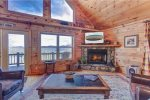 Living Room Features Stunning View and Gas Fireplace
