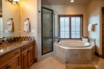 Master Bathroom with shower and jetted tub