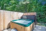 Take a dip in the warm hot tub after a day exploring town