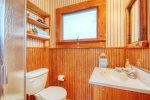Saugautuck Lodge pool house guest bathroom with shower