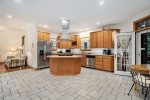 Deck off the screen porch overlooks the ravine