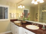 Master bathroom ensuite has double sinks
