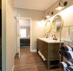 Master bathroom was recently remodeled