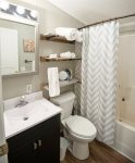 Guest bathroom with shower tub combo