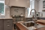 Fully equipped gourmet kitchen with center island
