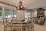 Formal dining area with Lake Michigan views