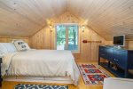 Lofted queen bedroom