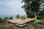 Relax on the bluff overlooking Lake Michigan