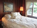 Queen bedroom with views of Lake Michigan